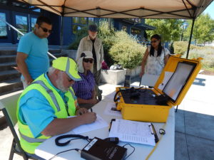 High Point Hub Radio Operator and volunteers