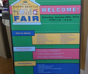 a listing of all the information tables at the North Seattle Home Show