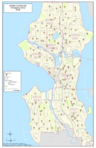 photograph relating to Printable Map of Seattle called SeattleCommunityEmergencyHubs2018 Seattle Crisis